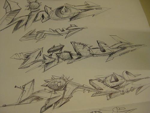 Dein Name entworfen & gemalt im SEAK Style.