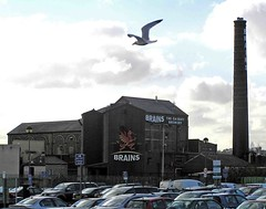 "Brains Brewery and a seagull • <a style=""font-size:0.8em;"" href=""http://www.flickr.com/photos/36398778@N08/6069387128/"" target=""_blank"">View on Flickr</a>"