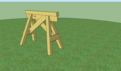 4x4 sawhorse 3