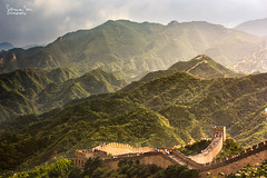 The Great Wall of China (SoniaMphotography) Tags: china trip travel mist storm mountains green canon haze beijing hills greatwall badaling greatwallofchina 450d soniamphotography