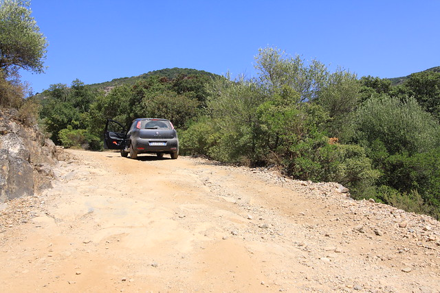 My little Fiat Punto had a hard time in the off-piste 4x4 territory somewhere northeast of Iglesias.