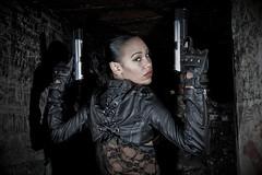 Chayenne for Heckler & Koch (Imaginary Images) Tags: woman leather gun bunker gloves hecklerkoch strobist