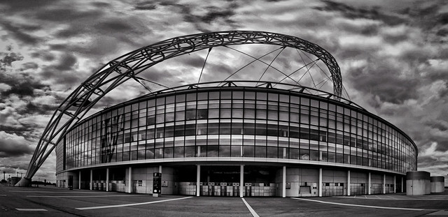 Dramatic B+W app'd Wembley Panorama