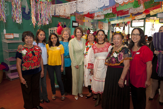 Leader Nancy Pelosi at Casa Bonampak in San Francisco