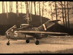 """1:72 Focke Wulf Ta-183 'Huckebein"""" -  1./JG 300 use (Luft'46; PM Models) (dizzyfugu) Tags: focke wulf ta183 luftwaffe luft 1946 luft46 172 plastic kit whif whatif modellbau dizzyfugu jg300 300 jagdgeschwader staffel 1staffel"""