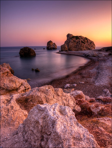 Aphrodites Rocks, Cyprus by John J Buckley