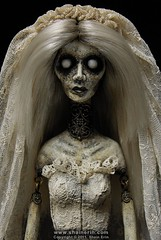 Lost Lenore - Ghost Art Doll (Shain Erin) Tags: sculpture art mixedmedia ghost goth victorian creepy artdoll apparition edgarallanpoe lenore theraven jointeddoll ghostdoll shainerin