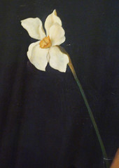 Christian Schad, Self-Portrait with detail of Narcissus