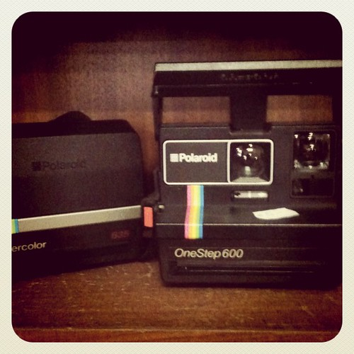 Polaroid cameras at the Thriftstore