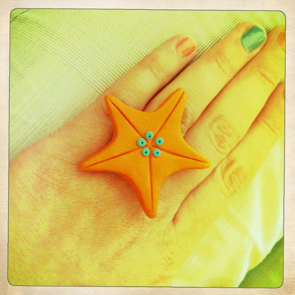 My orange starfish riiing!