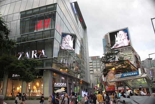 Fashion outlets at Myeongdong, Seoul South Korea