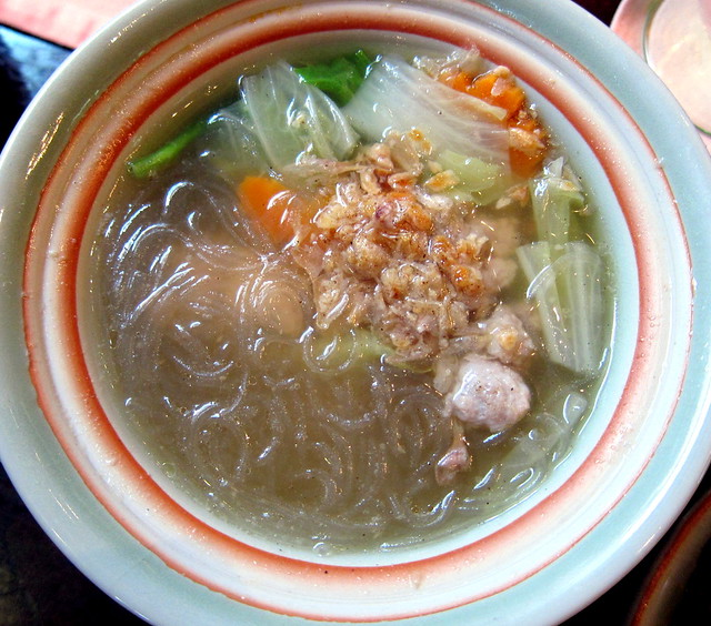 Glass Noodle Soup with Minced Pork