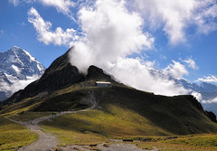 Der Zauberberg (ceca67) Tags: summer sky snow alps nature fog clouds landscape switzerland photo nikon august mount 2011 d90 ceca concordians