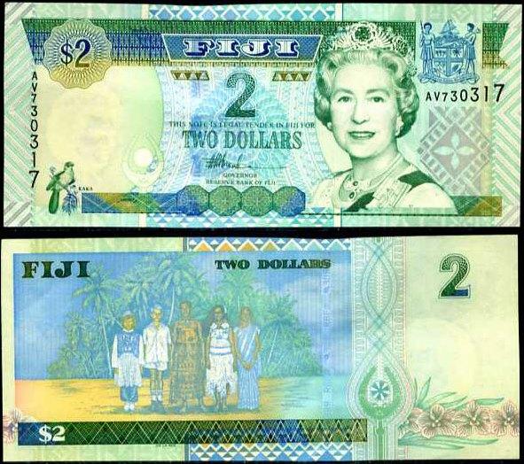 2 Doláre Fidži 2002, Pick 104