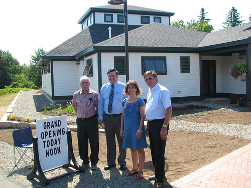From Left to Right: Swan's Island Historical Society Founder Ed Wheaton; USDA Rural Development Area Director Raymond Roberts; Swan's Island Library Librarian Candis Joyce; and USDA Rural Development Area Specialist Lewis Sirois