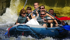 11.8.11 Vyssi Brod Weir 029 (donald judge) Tags: river boats republic czech canoes vltava brod kayaks weir rafts 2011 vyssi