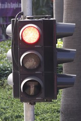 Waiting to proceed at a traffic light on the Hong Kong Tramways
