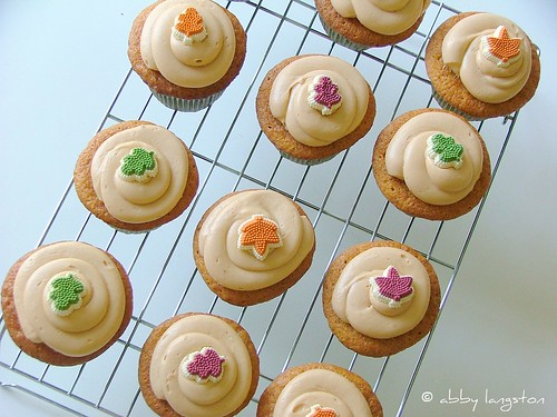Butterscotch Maple Cupcakes with Butterscotch Maple Cream-Cheese Frosting