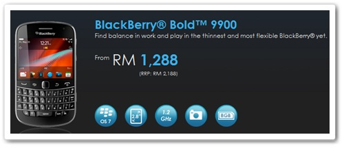 Celcom BlackBerry® Bold™ 9900 from RM1,288