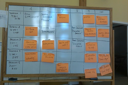 Job Search Jam Sessions 3 - schedule board