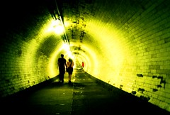 In it together (fotobes) Tags: red people green film 35mm lights lomo lca xpro lomography crossprocessed shadows crossprocess candid strangers tunnel tiles crossprocessing holdinghands analogue lowdown lowperspective greenwichfoottunnel inittogether lomographychrome100 fotobes tunnelphilia