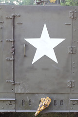 M3A1 Halftrack rear door detail (RLB Photography) Tags: wisconsin army military vehicle wi oshkosh halftrack hmv militaryvehicle m3a1
