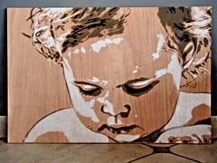 Lena - stencil by KrieBeL - for a nice person (_Kriebel_) Tags: street urban stencils art graffiti stencil belgique bart lisa lena belgica savoye urbain pochoir pochoirs kriebel knockaert streetartbelgium belgiën kriebelized sjablone