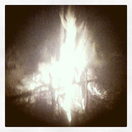 Story telling around the bonfire