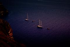 Anchorage spot (SteliosCharalambous {}) Tags: blue sea cliff night boat mar rocks sailing hellas santorini greece anchorage sail thyra cyclades thira fira sailingboat fyra