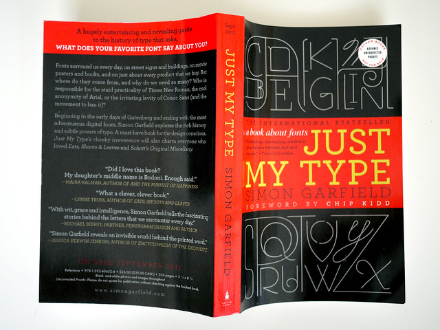 REVIEW COPY: Just My Type by Simon Garfield
