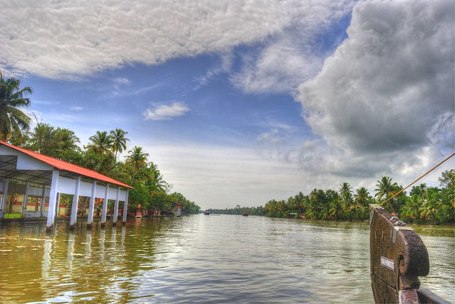 HDR of Backwaters near Kumarukom