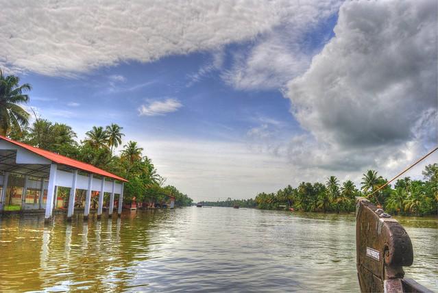 HDR of Backwaters near Kumarukom