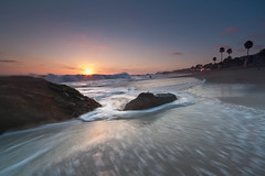 Aliso Beach Sunset (CrapulePHL) Tags: california trees sunset sea sun beach water canon golden sand rocks surf raw waves palm iso daryl filter hour blended surfers 100 usm laguna reverse 3s benson grad efs 1022mm lagunabeach 18s exposures 10mm f3545 nd2 f110 113s alisobeachcountypark
