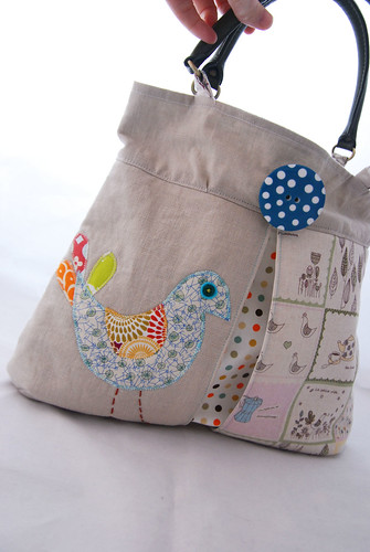 Applique Bird Bag by Once upon a time in the north