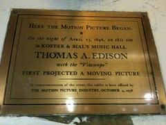 Photo of Thomas Edison brass plaque