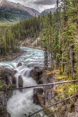 Sunwapta Falls (Fil.ippo) Tags: park panorama parco canada water landscape long exposure jasper falls filter national waterfalls nd acqua hdr filippo paesaggio nazionale sunwapta d5000