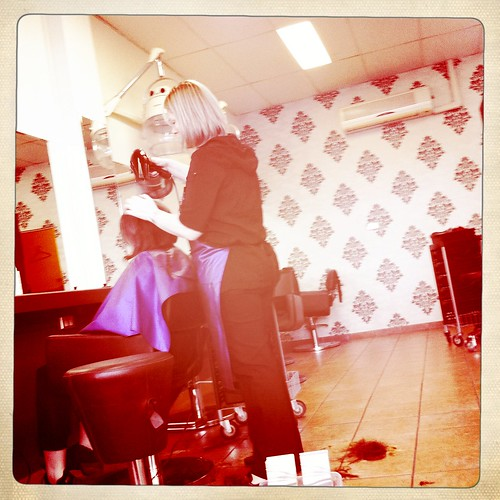 At the hairdressers