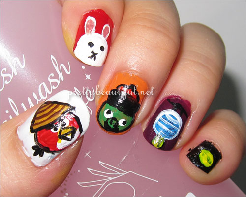 Angry Birds Mooncake Festival Nail Art Tutorial