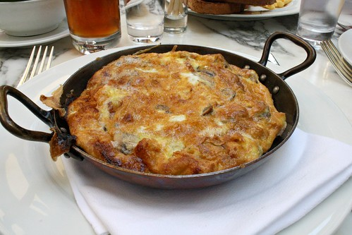 Wood baked Frittata with Mushrooms & Pancetta