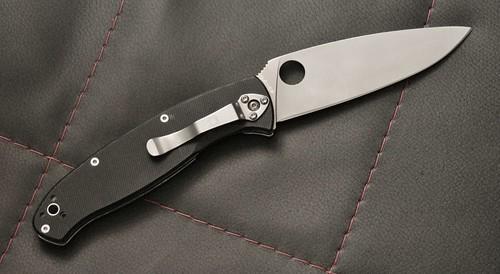 "Spyderco Resilience Folding Knife 4-1/4"" Plain Blade, G10 Handles"