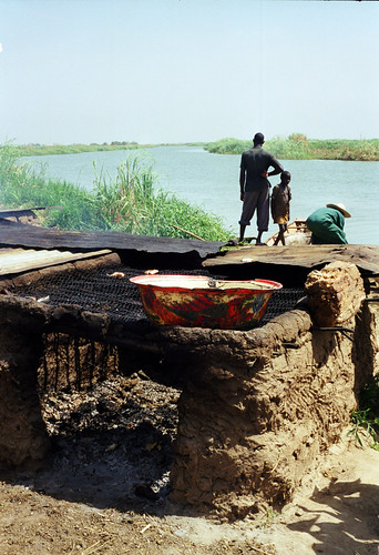 Drying fish, photo by Chris Bene, 2003