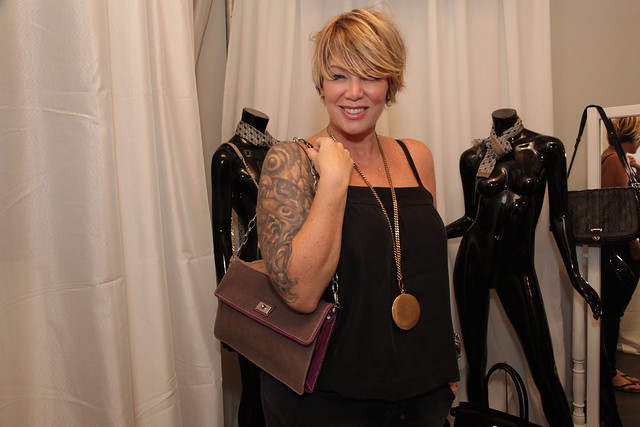 Mary Murphy tries a Coccinelle bag