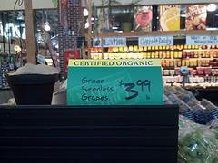 store signage cert organic