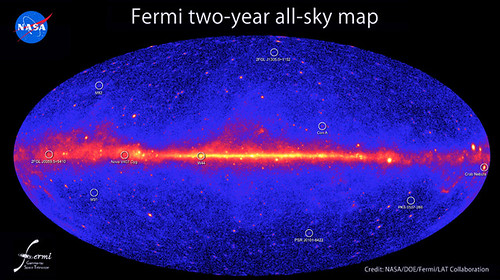 Fermi Two year all-sky map