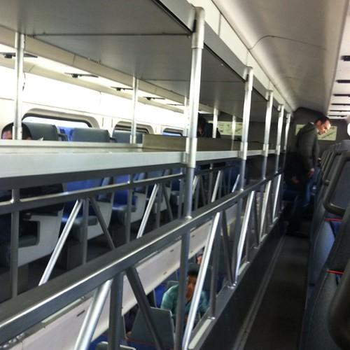 Interesting double decker trains