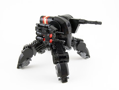 P P (Titolian) Tags: black robot war lego destruction space aircraft machine destroyer future guns anti missiles mech unmanned walkrer