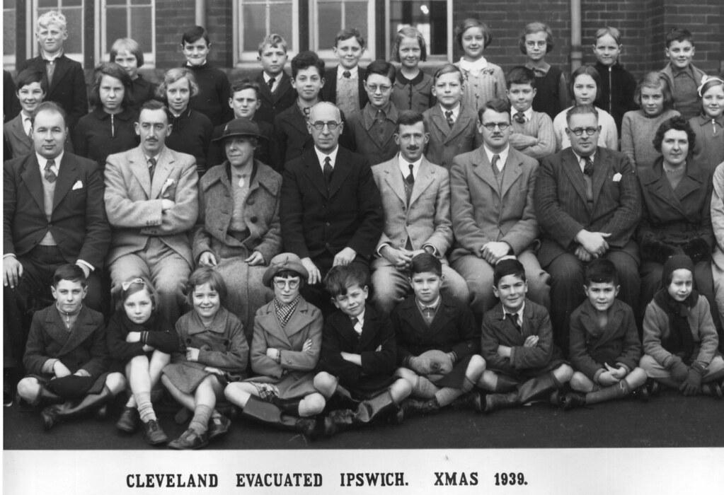 Cleveland Evacuated Ipswich Xmas 1939