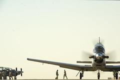 Taxi for take off (DaveSalanitri) Tags: afghanistan military iraq c17 airforce firefighters c130 usairforce t6 airdrop southwestasia pilottraining iraqiairforce davidsalanitri 52ndexpeditionaryflyingtrainingsquadron combatoperatingbasespeicher