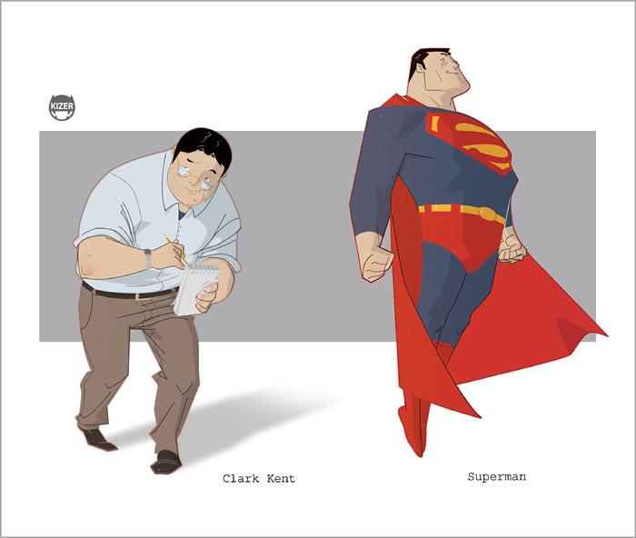 desenho nerd superman