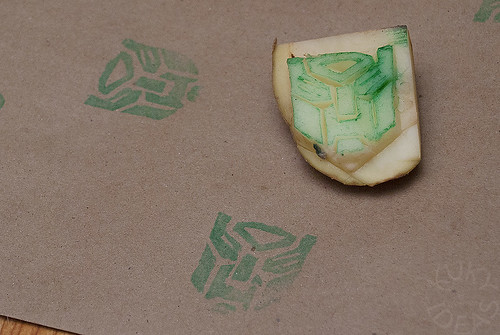Transformer potato stamp